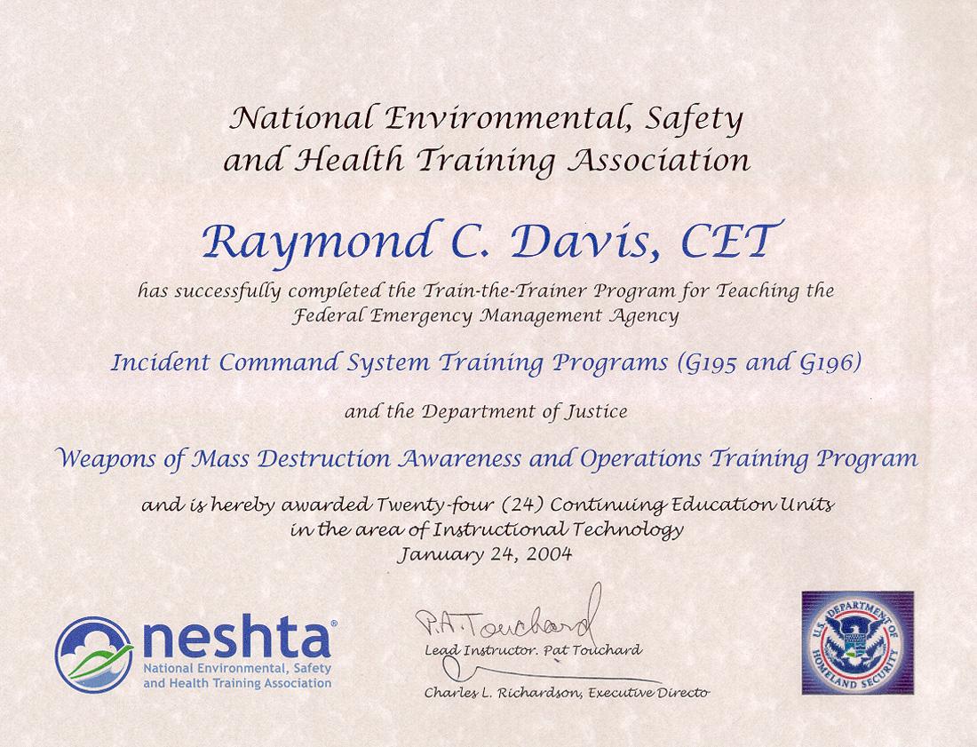FEMA Certificates